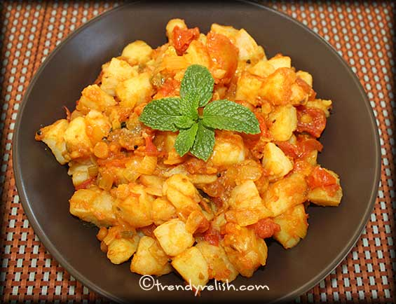 Potato &#8211; Tomato Stir Fry 