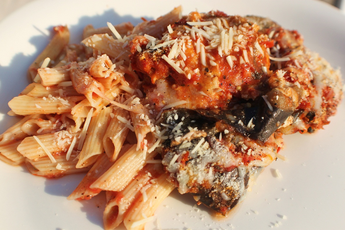 ... Italian Style Cuisine: Baked Eggplant Parmesan with Penne Pasta Recipe