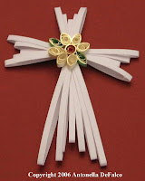 quilling quilled spreuer cross christmas ornament