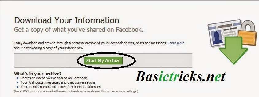 how to stop archiving my data on facebook