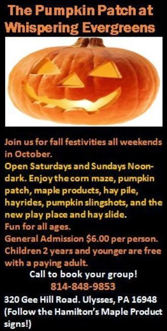 10-25/26 Pumpkin Patch At Ulysses