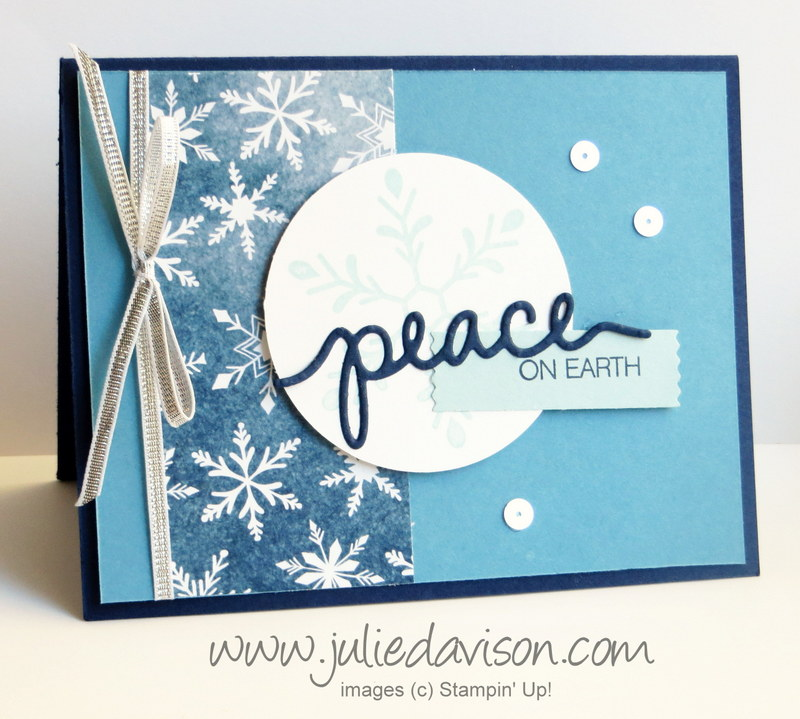 Julies stamping spot stampin up project ideas by julie davison stampin up holly jolly greetings peace on earth christmas card stampinup 2015 m4hsunfo Images