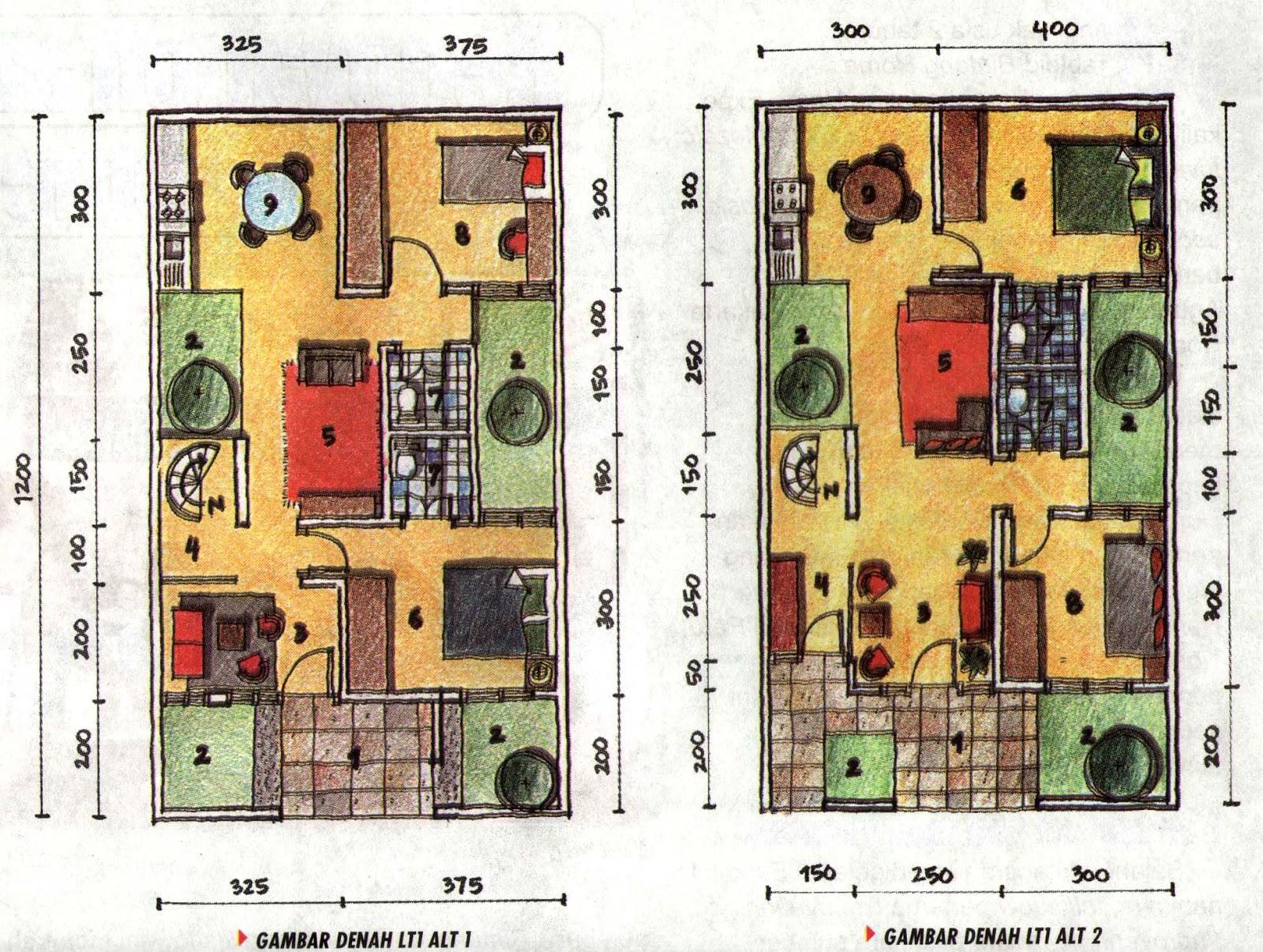 cd desain rumah denah rumah