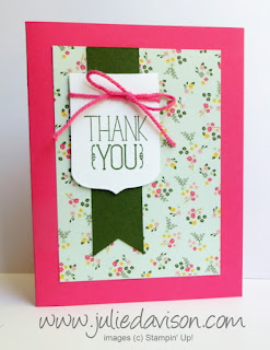 Stampin' Up! Because I Care Thank You Card #stampinup www.juliedavison.com