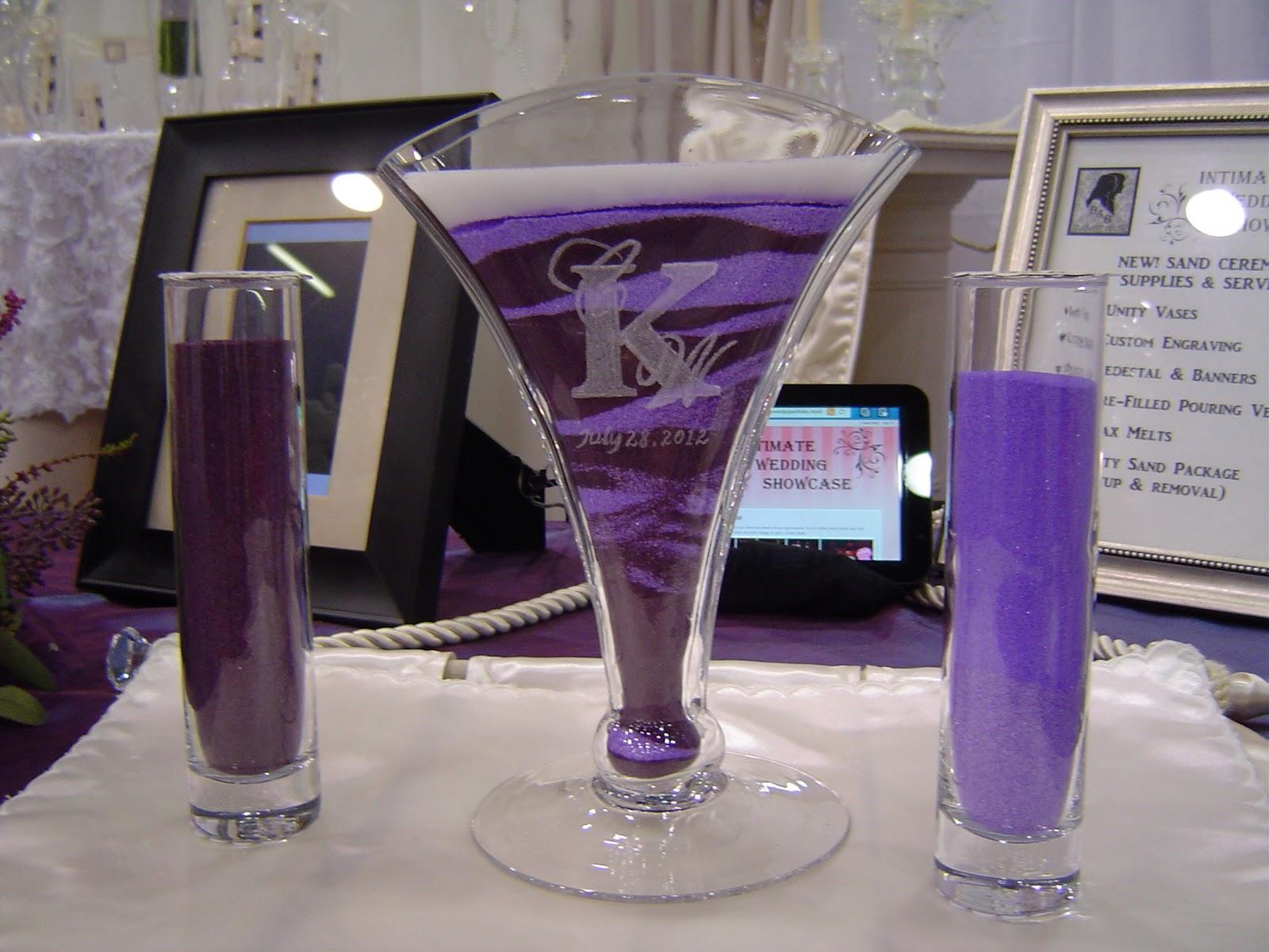 intimateweddingshowcase blogspot wedding sand ceremony B B s Custom Engraved Unity Vases