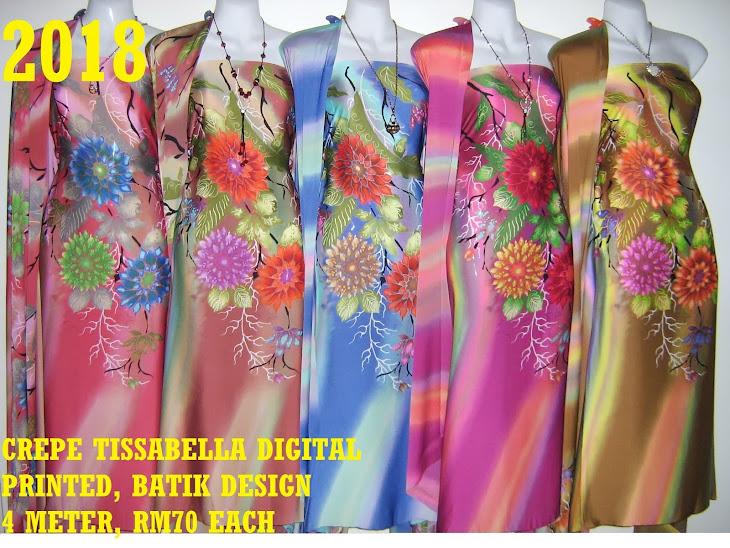 CTD 2018: BATIK CREPE TISSABELLA DIGITAL PRINTED, EXCLUSIVE DESIGN, 4 METER