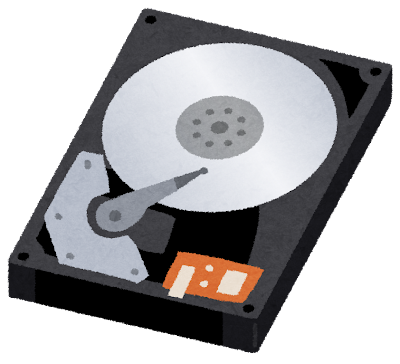 ハードディスクのイラスト(コンピューター)