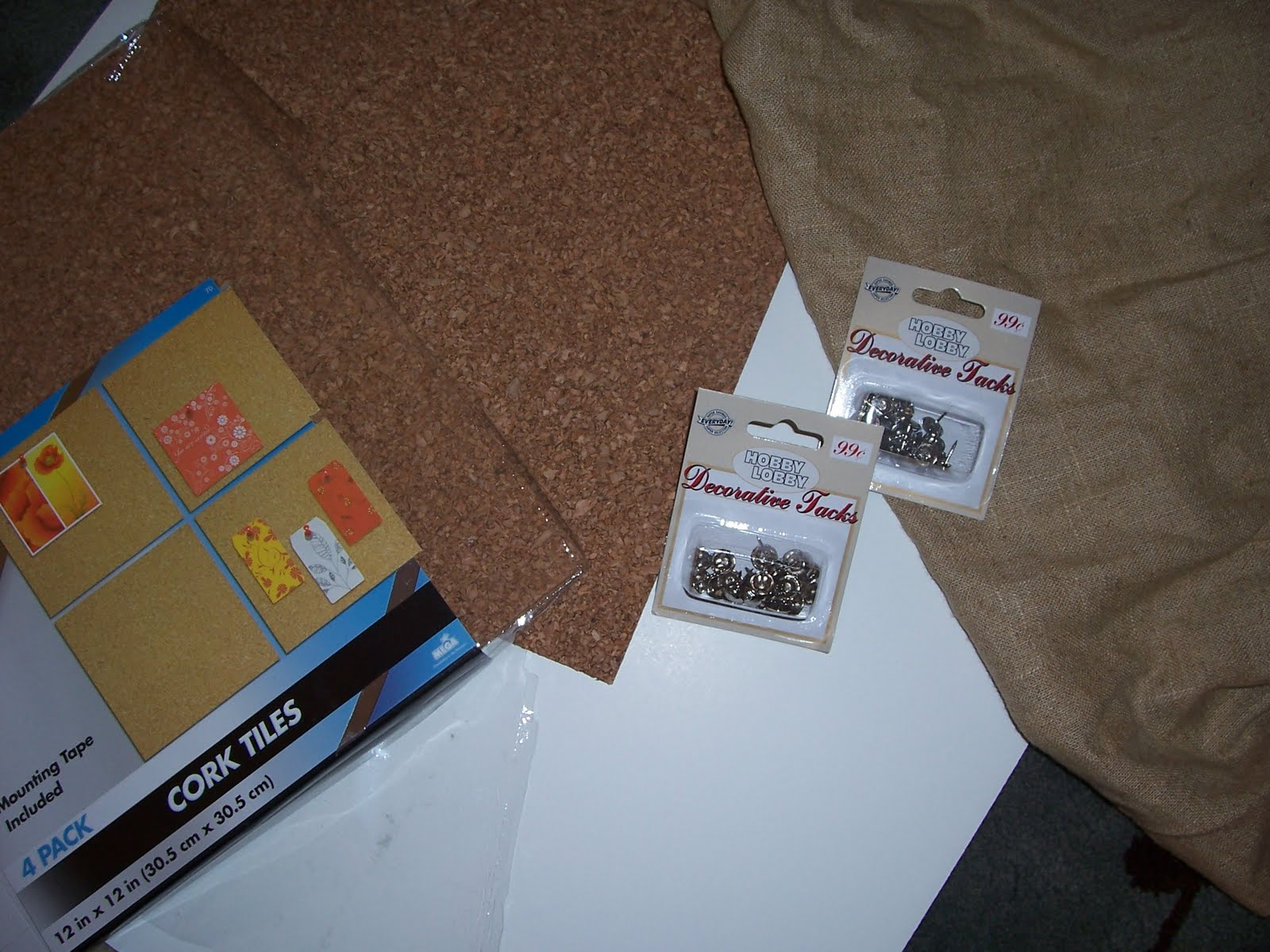 The Cre8tive Outlet Nail Head Bulletin Board
