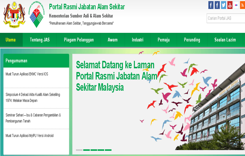 Portal Rasmi Jabatan Alam Sekitar