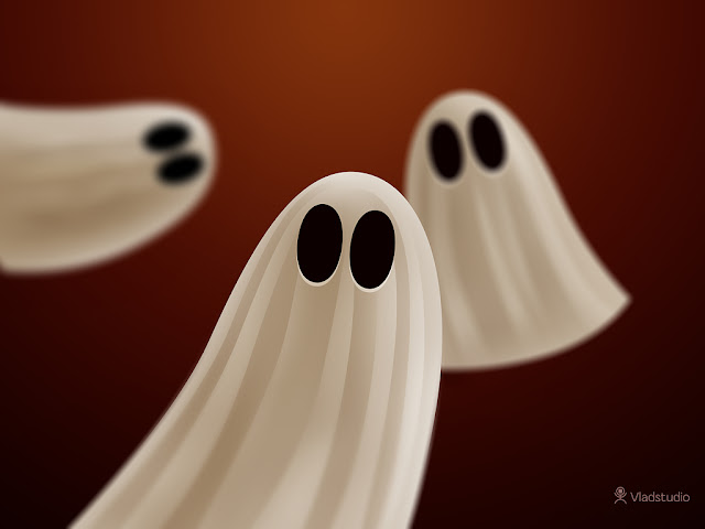 Ghosts - Halloween wallpaper