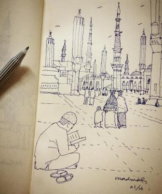 Sketsa Makkah dan Madinah Karya Ridwan Kamil 4