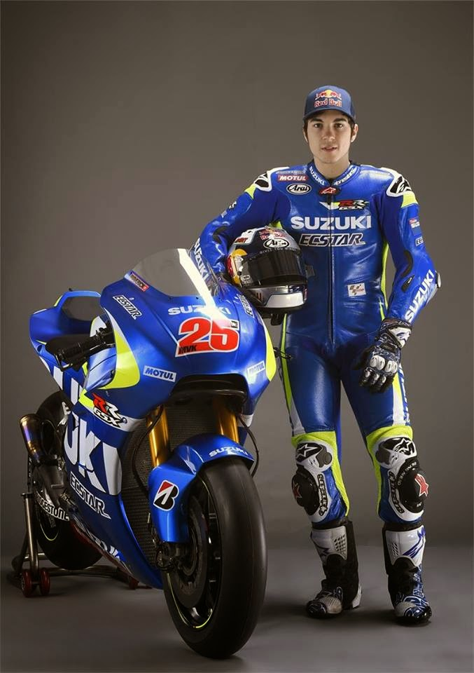 Maverick Viñales en la presentación de Suzuki