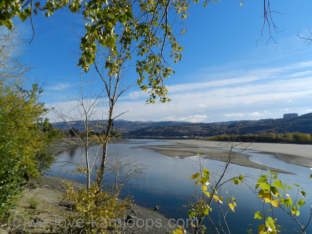 Kamloops is seen east of this viewpoint overlooking the Thompson River.