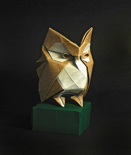my owl barn origami by roman diaz