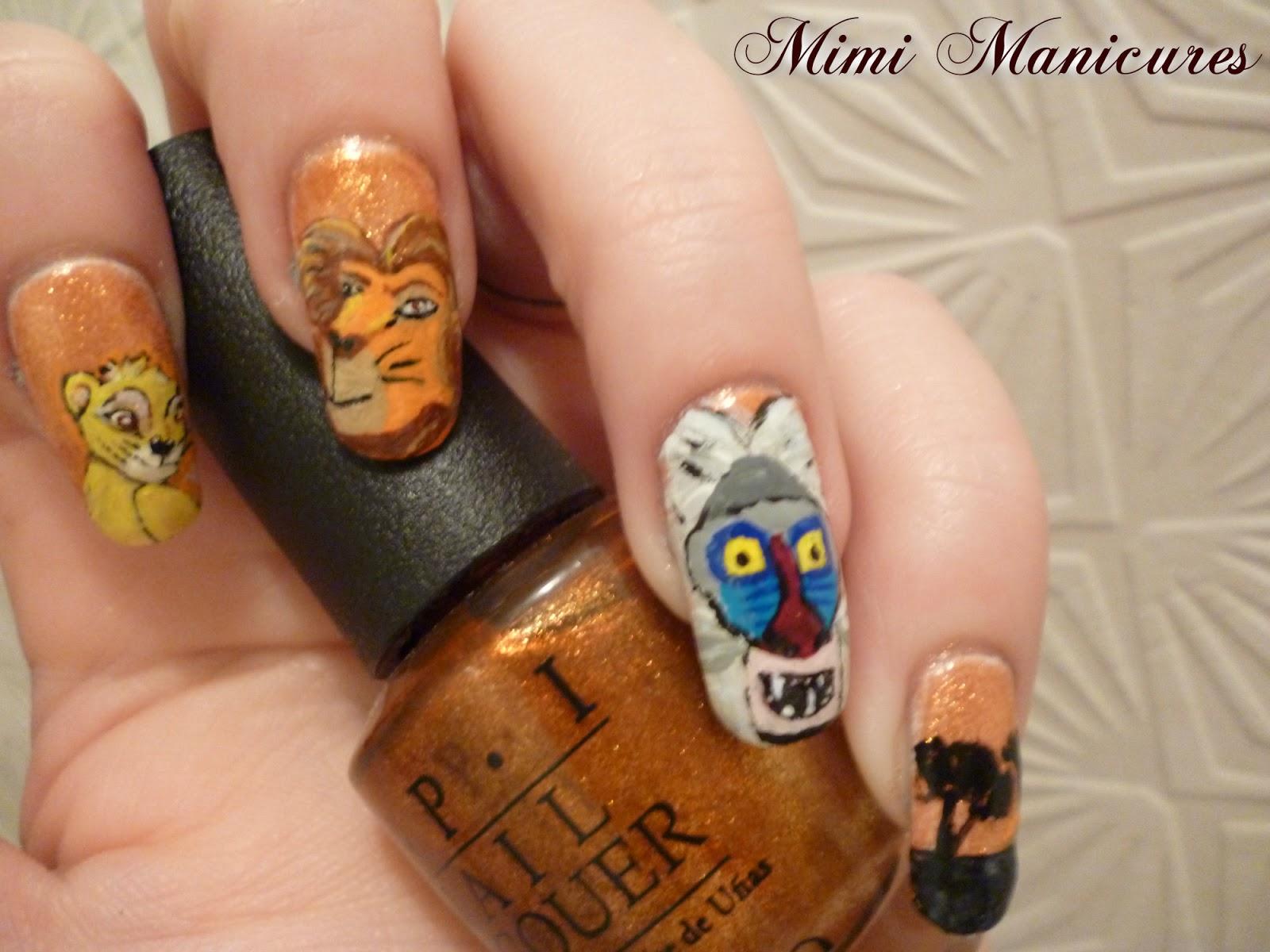 my adventures in nail polish: Disney Lion King Nail Art
