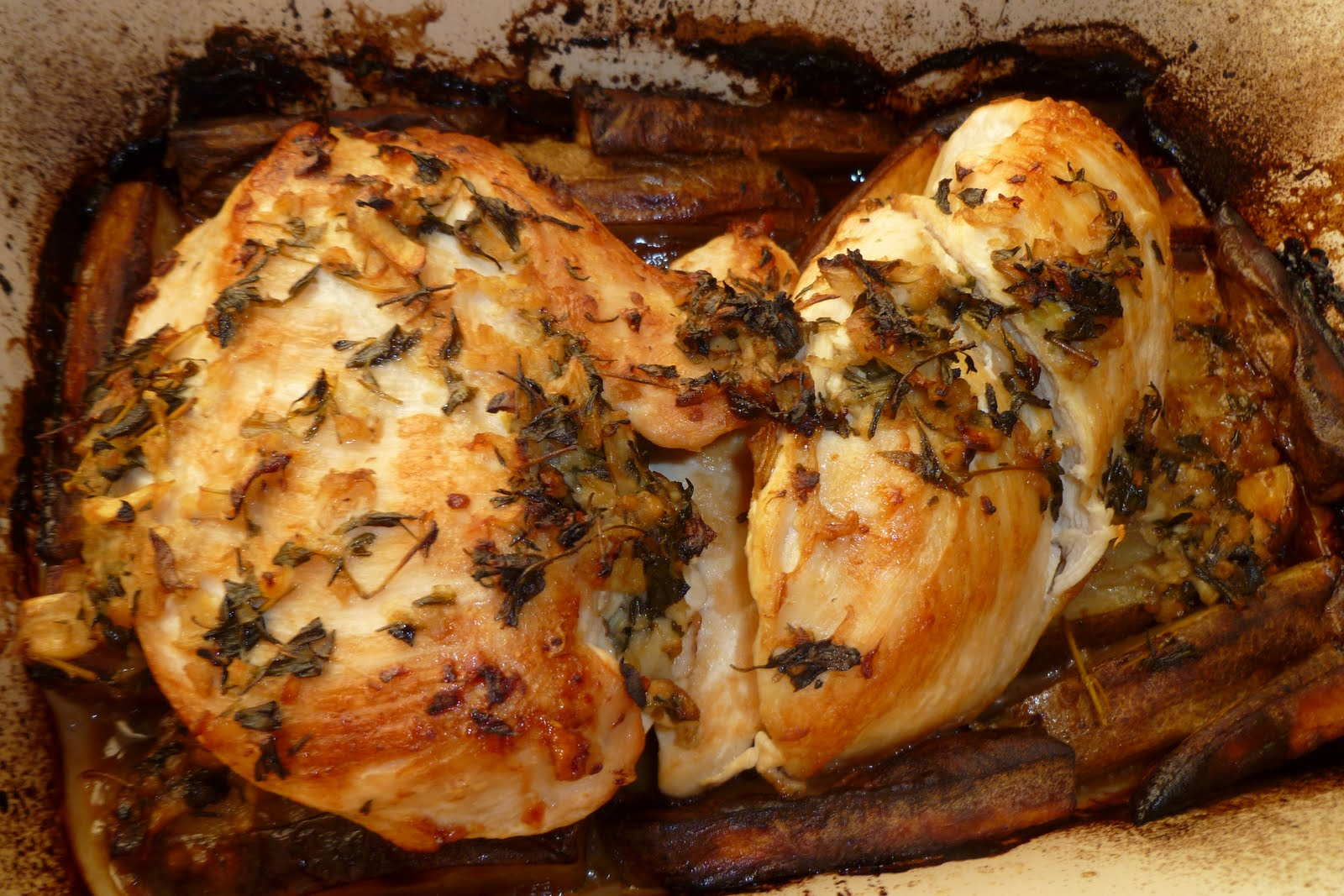 Chicken Vesuvio Recipe — Dishmaps
