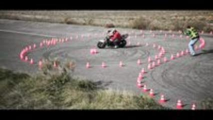 Drifting a Motorbike Awesome Talent