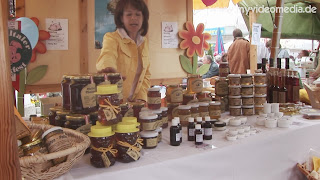 Honey booth at the Hermagor Bacon Festival