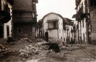 Candelario Salamanca obras en 1932 instalación del alcantarillado