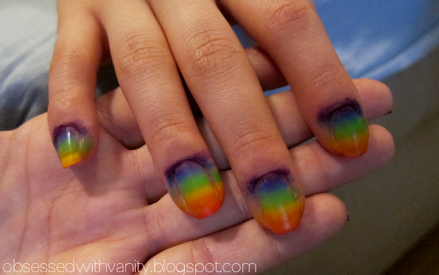 obsessed with vanity rainbow ombre