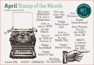 APRIL STAMP OF THE MONTH - Typed Note