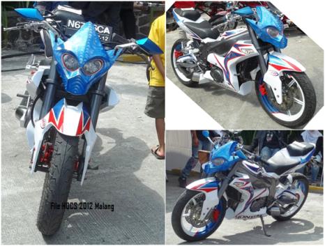 Gambarmodifikasi motor extreme dengan basic motor honda, dalam gelaran  title=