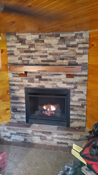 With the stone veneer installed