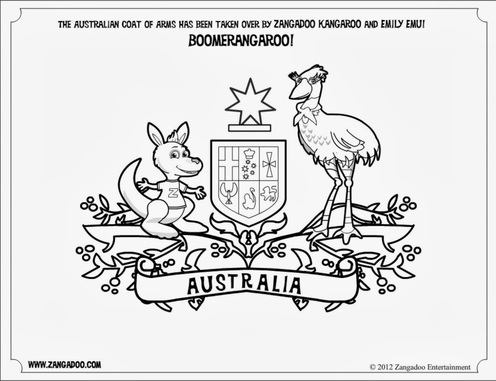 Pin Blank Shield Coloring Page Printable Pages On Pinterest Australian Coat Of Arms Colouring Page