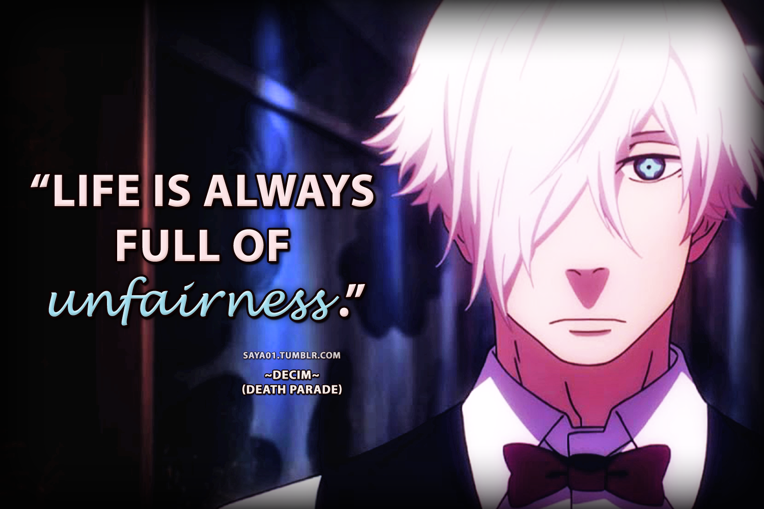 Image result for death parade anime quotes