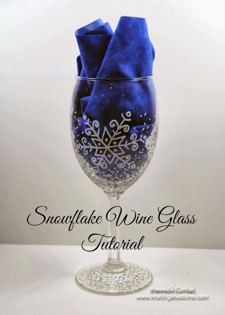 DIY Snowflake Wine Glasses