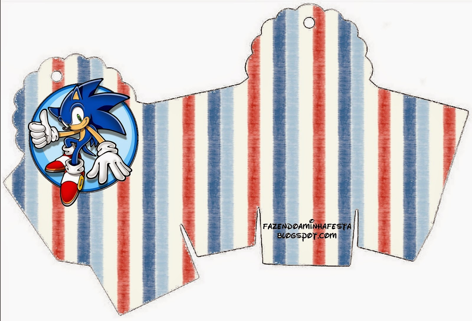 Caja para cupcakes, chocoltes o golosinas de Sonic.