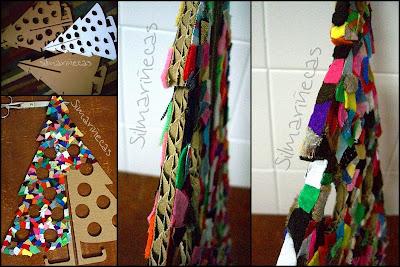Arbol de navidad de cartón-