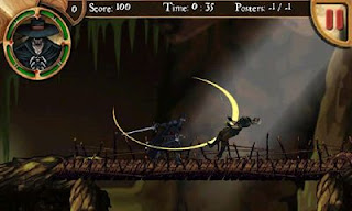 Screenshots of the Zorro Shadow of Vengeance for Android tablet, phone.