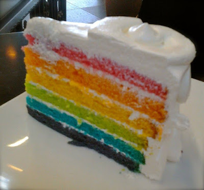 Rainbow Cake at Dean & Deluca Orchard Central