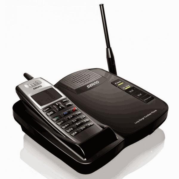 Современный стильный многофункциональный радиотелефон SENAO SN-356 с виброзвонком дальностью работы 5-25 км и емким аккумулятором