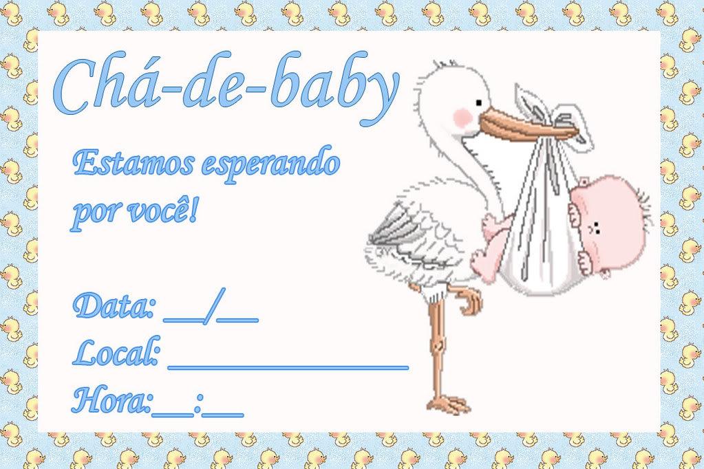 Para Ch   Do Beb   Prontos Para Imprimir  Convites Prontos Para