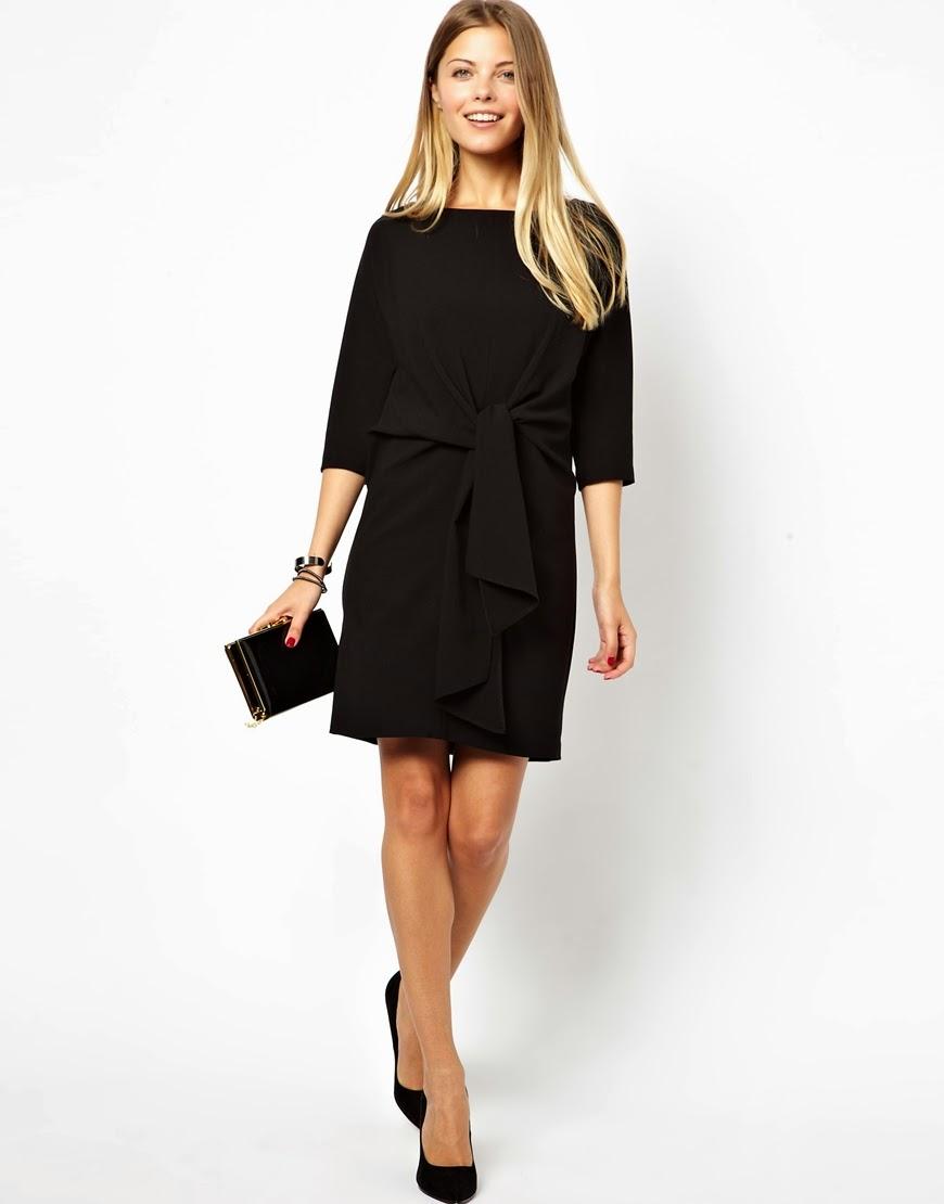 black tied dress