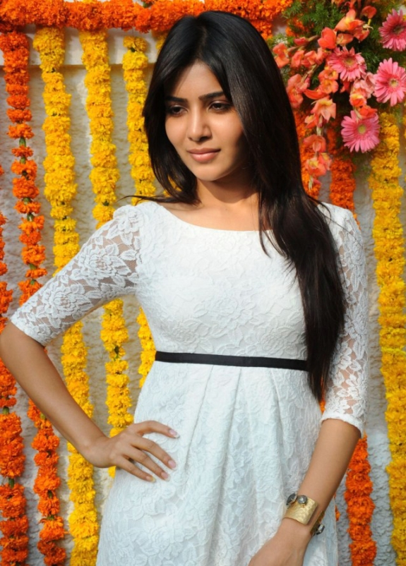 Samantha in white dress1 - Samantha latest Pics in White Dress