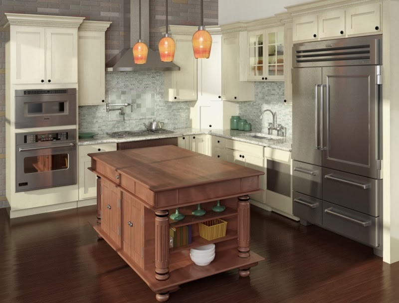 The byers project kitchen island trends for Cuisine gris et blanc deco