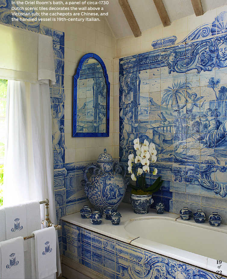 Splendid sass anouska hempel interior design for Delft tile mural