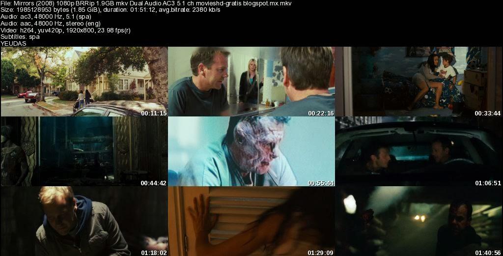 Mirrors reflejos 2008 1080p brrip 1 9gb mkv dual audio for Mirror 2008 dual audio