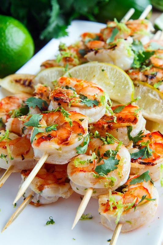 Cilantro Lime Grilled Shrimp | Closet Cooking | Bloglovin'