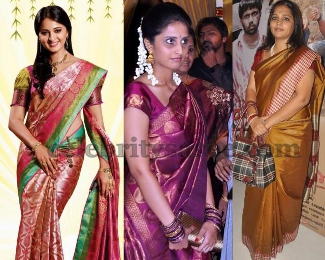 Actresses in Soft Silk Sarees