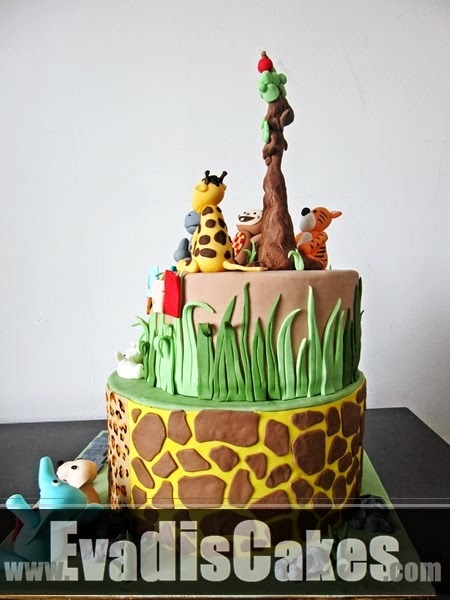 Cake with Giraffe pattern design