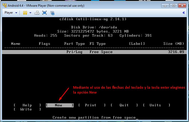 Instalar Android en una maquina virtual con VMware