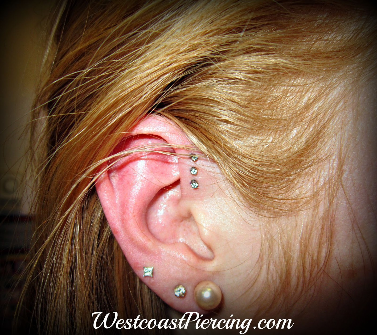 westcoast piercing and ink triple forward helix piercing. Black Bedroom Furniture Sets. Home Design Ideas