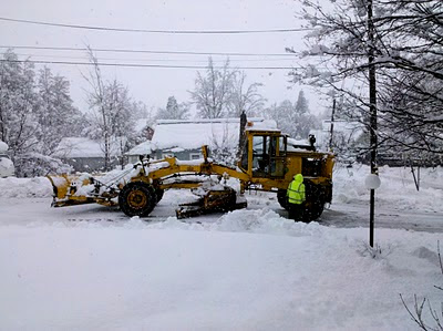 Broken-down Snowplow