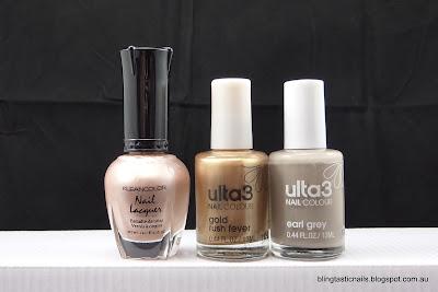 Kleancolor Sandstone, Ulta3 Gold Rush Fever, Ulta3 Earl Grey