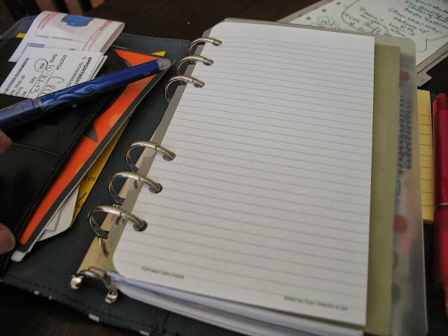 blank paper, planner
