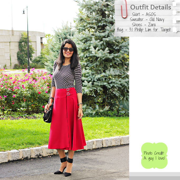 Revlon Nail Enamel, #colorcloset, ASOS Midi Skirt in Kilt Style